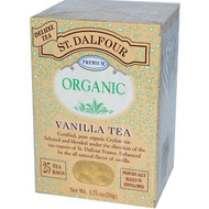 3 PACK of St. Dalfour, Organic, Vanilla Tea, 25 Tea Bags, 1.75 oz (50 g)