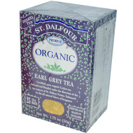 3 PACK of St. Dalfour, Organic, Earl Grey Tea, 25 Tea Bags, 1.75 oz (50 g)