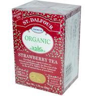 3 PACK of St. Dalfour, Organic Strawberry Tea, 25 Envelopes, 1.75 oz (50 g)