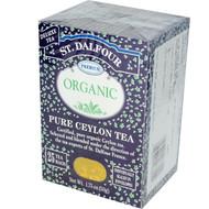 3 PACK of St. Dalfour, Organic, Pure Ceylon Tea, 25 Tea Bags, 1.75 oz (50 g)