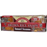 3 PACK of Edward & Sons Brown Rice Snaps Gluten Free Tamari Sesame -- 3.5 oz