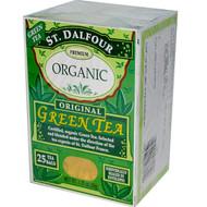 3 PACK of St. Dalfour, Organic, Original Green Tea, 25 Tea Bags, 1.75 oz (50 g)