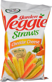 5 PACK of Sensible Portions Garden Veggie Straws  Cheddar Cheese - 5 oz