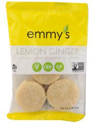 Emmys Organics, Macaroons,  Lemon Ginger - 2 oz -5 PACK