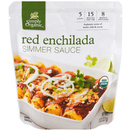 3 PACK OF Simply Organic, Organic Simmer Sauce, Red Enchilada, 8 oz (227 g)