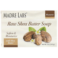 3 PACK OF Madre Labs, Raw Shea Butter, Bar Soap, with Vitamin E, Rosemary, Myrrh & Frankincense, 5 oz (141 g)