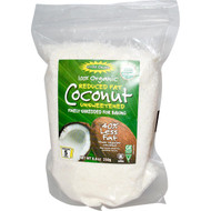 3 PACK of Edward & Sons, 100% Organic Unsweetened Shredded Coconut, Reduced Fat, 8.8 oz (250 g)