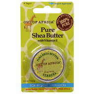 3 PACK of Out of Africa, Pure Shea Butter with Vitamin E, Verbena, 0.5 oz (14.2 g)