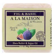 3 PACK OF A La Maison de Provence, Hand & Body Bar Soap, Fig & Basil, 3.5 oz (100 g)