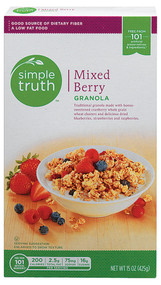 3 PACK of Simple Truth Granola Mixed Berry -- 15 oz