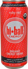 Hi-Ball Organic Energy Drink Ruby Red - 16 fl oz