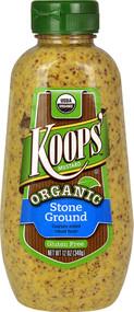 5 PACK of Koops Mustard Organic Stone Ground - 12 oz