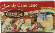 Celestial Seasonings, Green Tea Decaffeinated,  Candy Cane Lane - 20 Tea Bags -5 PACK