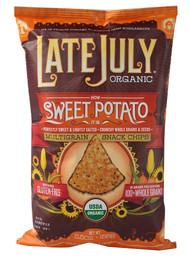 3 PACK of Late July Snacks Organic Multigrain Tortilla Chips Gluten Free Sweet Potato -- 5.5 oz