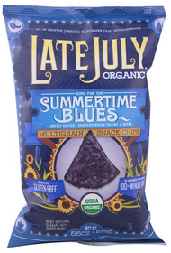 3 PACK of Late July Snacks Organic Multigrain Tortilla Chips Gluten Free Summertime Blues -- 5.5 oz