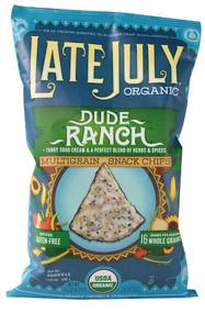 3 PACK of Late July Snacks Organic Multigrain Tortilla Chips Gluten Free Dude Ranch -- 5.5 oz