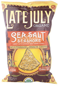Late July Snacks, Organic Multigrain Snack Chips Gluten Free,  Sea Salt By The Seashore - 6 oz -5 PACK