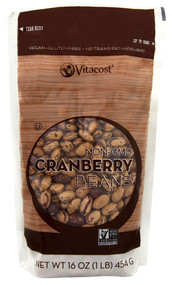 Vitaco, Cranberry Beans - Non-GMO and Gluten Free, - 16 oz (454 g) -5 PACK