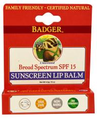 Badger, Sunscreen Lip Balm SPF15 - 0.15 oz -5 PACK