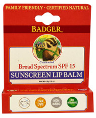 Badger, Sunscreen Lip Balm SPF15 - 0.15 oz