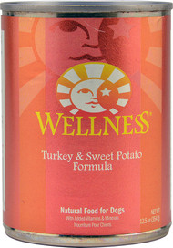 3 PACK of Wellness Canned Dog Food Turkey and Sweet Potato -- 12.5 oz