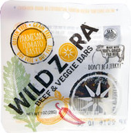 Wild Zora Beef & Veggie Bars Parmesan Tomato Basil - 1 oz (5 PACK)