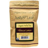 Just a Leaf Organic Tea, Loose Leaf, Herbal Tea, Hibiscus Lemon, 2 oz (56 g)