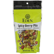 3 PACK OF Eden Foods, Organic, Seeds & Dried Fruit, Spicy Berry Mix, 4 oz (113 g)