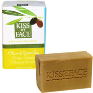 3 PACK OF Kiss My Face, Olive Oil Soap, Olive & Green Tea, 8 oz (230 g)