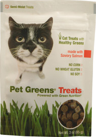 Pet Greens, Treats for Cats,  Savory Salmon - 3 oz -5 PACK