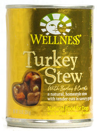 Wellness, Canned Dog Food,  Turkey Stew with Barley and Carrots - 12.5 oz -5 PACK