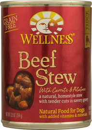 3 PACK of Wellness Canned Dog Food Beef Stew with Carrots and Potatoes -- 12.5 oz