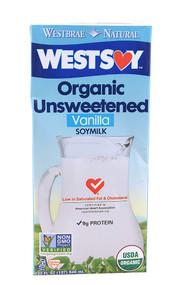 Westsoy, Organic Unsweetened Soy Milk,  Vanilla - 32 fl oz -5 PACK