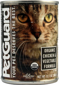 PetGuard, Organic Cat Food,  Chicken and Vegetables - 12.7 oz -5 PACK
