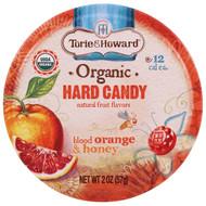 3 PACK OF Torie & Howard, Organic, Hard Candy, Blood Orange & Honey, 2 oz (57 g)