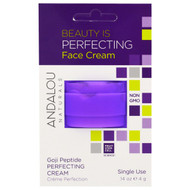5 PACK of Andalou Naturals, Perfecting Cream, Goji Peptide, Single Use, .14 oz (4 g)