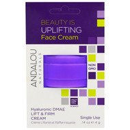 5 PACK of Andalou Naturals, Lift & Firm Cream, Hyaluronic DMAE, Single Use, .14 oz (4 g)