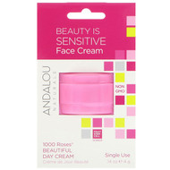 3 PACK OF Andalou Naturals, 1000 Roses Beautiful Day Cream, Single Use, .14 oz (4 g)