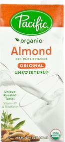 Pacific Natural Foods Organic Almond Milk Original Unsweetened - 32 fl oz
