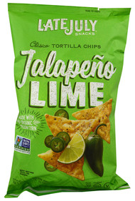 Late July Snacks, Clasico Tortilla Chips,  Jalapeno Lime - 5.5 oz -5 PACK