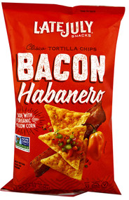Late July Snacks, Clasico Tortilla Chips,  Bacon Habanero - 5.5 oz -5 PACK