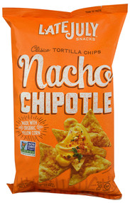 Late July Snacks, Clasico Tortilla Chips,  Nacho Chipotle - 5.5 oz -5 PACK