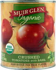 Muir Glen Organic, Crushed Tomatoes with Basil - 28 fl oz -5 PACK