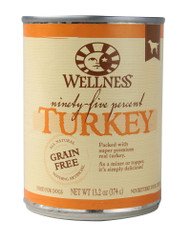 3 PACK of Wellness Canned Dog Food Turkey -- 13.2 oz