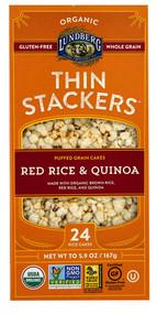 Lundberg, Organic Thin Stackers Rice Cakes,  Red Rice & Quinoa - 5.9 oz -5 PACK