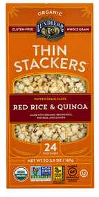 3 PACK of Lundberg Organic Thin Stackers Rice Cakes Red Rice & Quinoa -- 5.9 oz