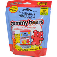 3 PACK of YumEarth, Gummy Bears, Assorted Flavors, 5 Snack Packs, 0.7 oz (19.8 g) Each