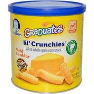 3 PACK of Gerber Lil' Crunchies Mild Cheddar -- 1.48 oz