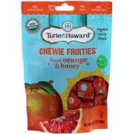3 PACK OF Torie & Howard, Organic, Chewie Fruities, Blood Orange & Honey, 4 oz (113.40 g)