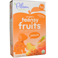 3 PACK of Plum Organics, Tots, Organic Teensy Fruits, Peach, 12+ Months, 5 Packs, .35 oz (10 g) Each